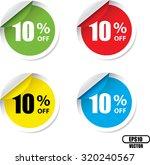 10 percent off colorful circle...