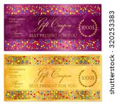 gift certificate  coupon ... | Shutterstock .eps vector #320253383