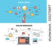 social media infographic with... | Shutterstock .eps vector #320270897