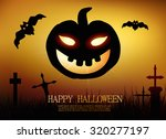 greeting card happy halloween | Shutterstock .eps vector #320277197