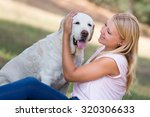 young woman with old senior... | Shutterstock . vector #320306633