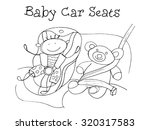 baby car seats. kids health.... | Shutterstock .eps vector #320317583