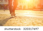 womansfoots on the street at... | Shutterstock . vector #320317697