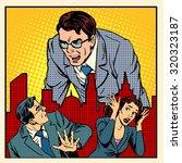 boss anger work office business ... | Shutterstock .eps vector #320323187