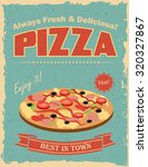 fast food restaurant poster...   Shutterstock .eps vector #320327867