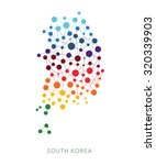 dotted texture south korea... | Shutterstock .eps vector #320339903