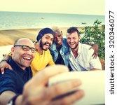 diversity friends selfie photo... | Shutterstock . vector #320346077