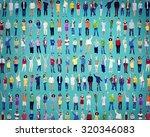 multiethnic casual people... | Shutterstock . vector #320346083