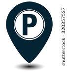 parking map marker  vector... | Shutterstock .eps vector #320357537
