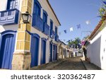 Decorated Houses In Paraty In...