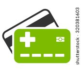 medical insurance cards vector... | Shutterstock .eps vector #320381603