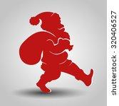 vector silhouette of santa claus | Shutterstock .eps vector #320406527