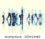 silhouettes of business people... | Shutterstock . vector #320414483