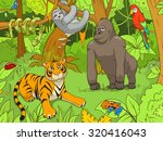 Jungle Animals Cartoon Vector...