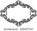 nice vintage frame with black...   Shutterstock .eps vector #320457767