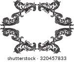 black victorian frame on white   Shutterstock .eps vector #320457833