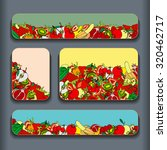 fruit pattern cards set. vector ... | Shutterstock .eps vector #320462717