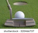 golf putter set up to the ball | Shutterstock . vector #320466737