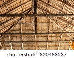 Bottom View Of Thatch Roof.
