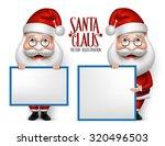 set of 3d realistic santa claus ... | Shutterstock .eps vector #320496503