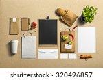 coffee stationery  branding... | Shutterstock . vector #320496857