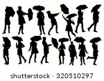 vector silhouette of a woman...   Shutterstock .eps vector #320510297