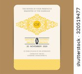 vintage wedding invitation card. | Shutterstock .eps vector #320519477