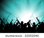 silhouettes of people dancing... | Shutterstock .eps vector #32052040