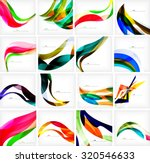 set of colorful flowing motion... | Shutterstock .eps vector #320546633