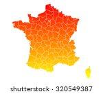 map of france | Shutterstock .eps vector #320549387
