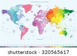 color worldwide map of local... | Shutterstock .eps vector #320565617