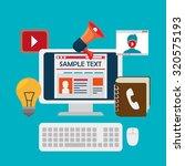 blog and blogger social media... | Shutterstock .eps vector #320575193