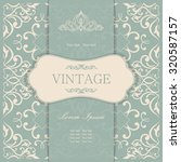 vintage invitation card with... | Shutterstock .eps vector #320587157