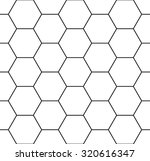 Vector modern seamless geometry pattern hexagon, black and white abstract geometric background, trendy print, monochrome retro texture, hipster fashion design | Shutterstock vector #320616347