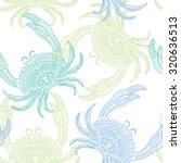 decorative sea crab. hand drawn ...   Shutterstock .eps vector #320636513