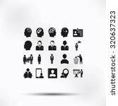 business man icons | Shutterstock .eps vector #320637323