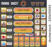 mining treasure hunt game menu...