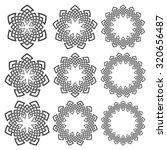 set of round frames. nine... | Shutterstock .eps vector #320656487