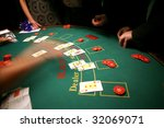 Black jack in casino - stock photo