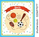kids sports design  vector... | Shutterstock .eps vector #320697077