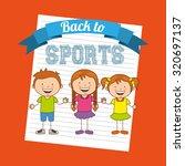 kids sports design  vector... | Shutterstock .eps vector #320697137