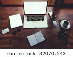 mock up of business person... | Shutterstock . vector #320705543