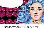 pop art illustration of girl...   Shutterstock . vector #320727743