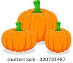 cartoon pumpkin | Shutterstock .eps vector #320731487