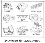 cheese set | Shutterstock .eps vector #320739893