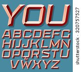 3d vector italic font with the... | Shutterstock .eps vector #320757527