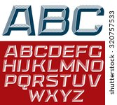 3d vector italic font with the... | Shutterstock .eps vector #320757533