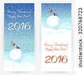 festive greeting cards with... | Shutterstock .eps vector #320768723
