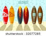 vector illustration of aloha...   Shutterstock .eps vector #32077285