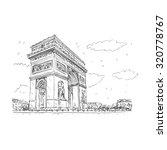 arc de triomphe  paris  france. ... | Shutterstock .eps vector #320778767